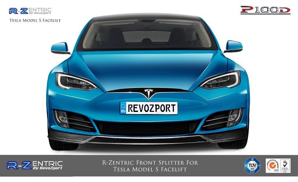 R-Zentric Front Splitter For Tesla Model S Facelift – RevoZport
