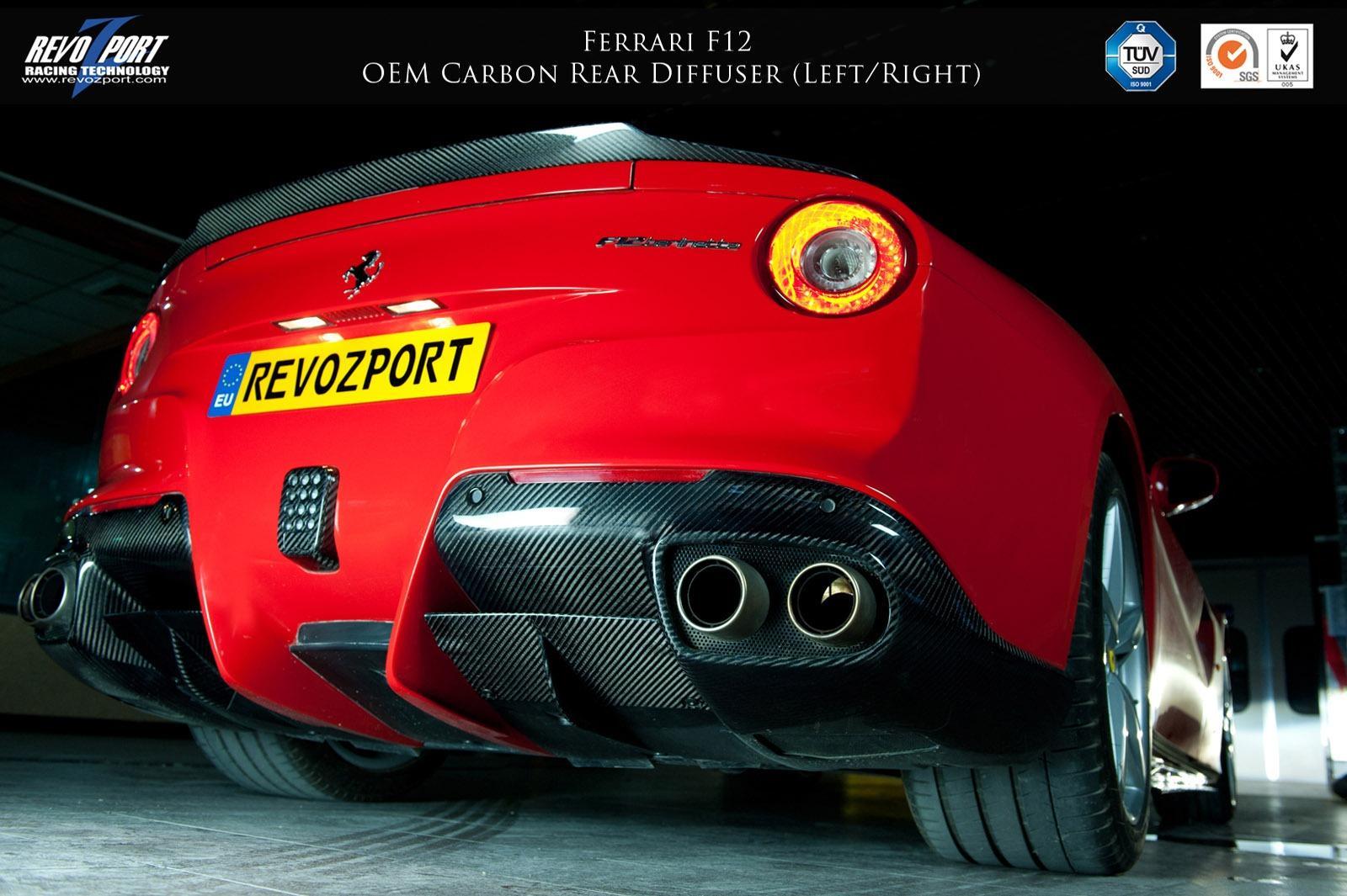 Oem Carbon Rear Diffuser Left Right Revozport