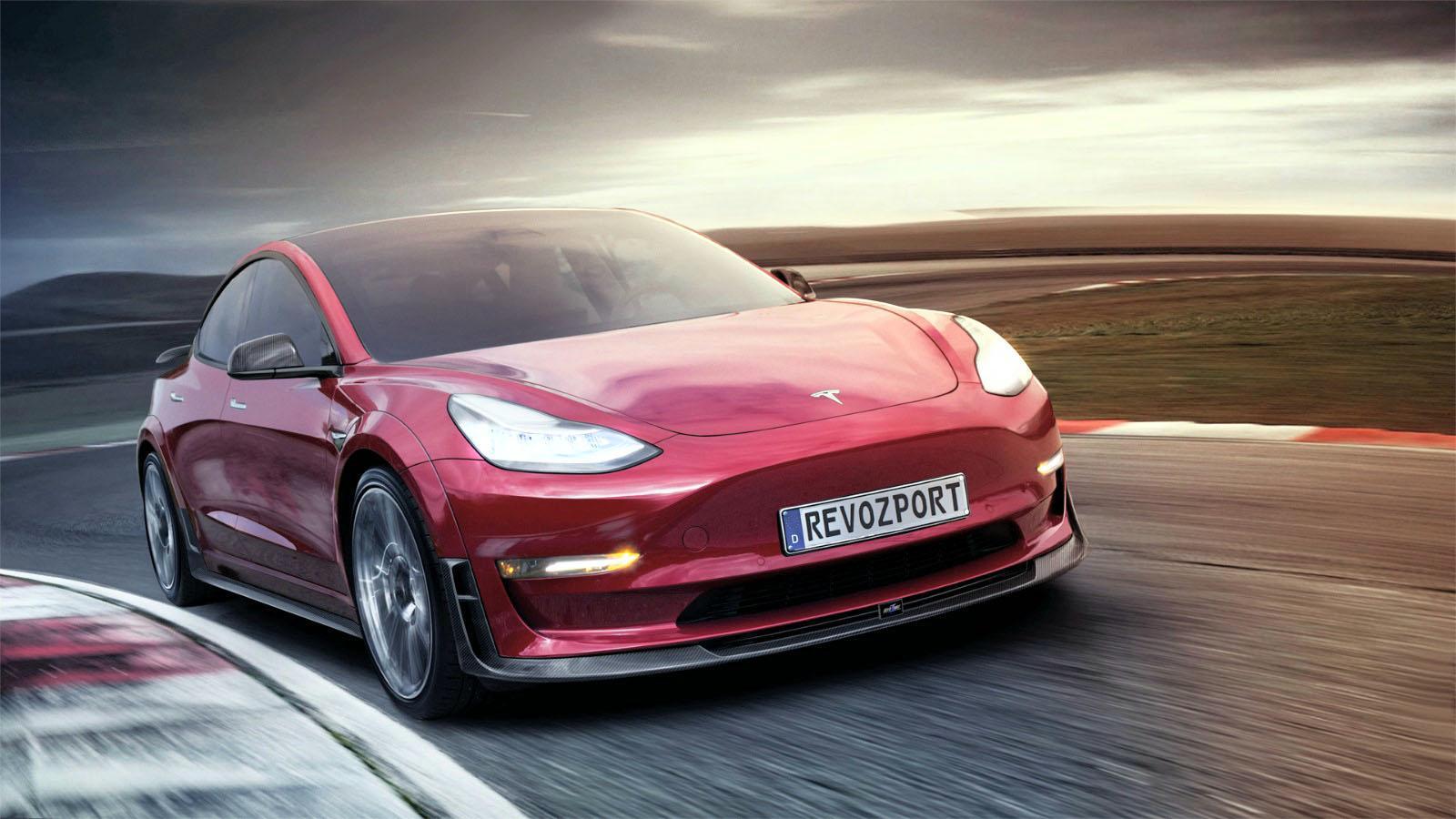 R Zentric Model 3r Complete Aerokit For Tesla 3
